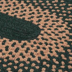 Colonial Mills Madison 4-ft Hancrafted Alpine Green Indoor Round Area Rug