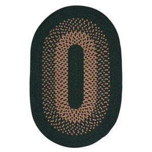 Colonial Mills Madison 4-ft x 6-ft Handcrafted Alpine Green Indoor Oval Area Rug