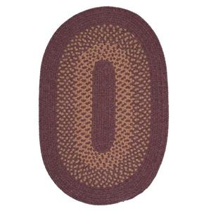 Colonial Mills Madison 7-ft x 9-ft Dark Plum Oval Area Rug