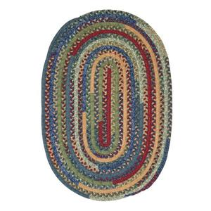 Colonial Mills Market Mix 4-ft x 6-ft Oval Indoor Sea Glass Area Rug