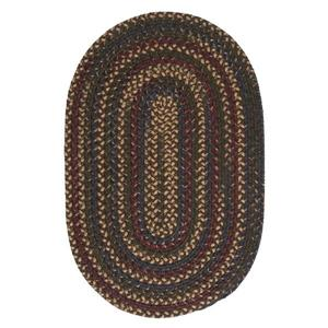 Colonial Mills Midnight 5-ft x 8-ft Java Indoor Handcrafted Oval