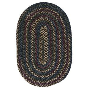 Colonial Mills Midnight 8-ft x 11-ft Carbon Oval