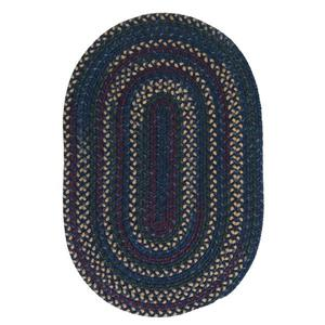Colonial Mills Midnight 5-ft x 8-ft Indigo Indoor Handcrafted Oval