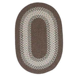 Colonial Mills North Ridge 5-ft x 8-ft Bark Oval Area Rug