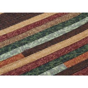 Colonial Mills Quilter's Choice 7-ft x 9-ft Forest Oval Area Rug
