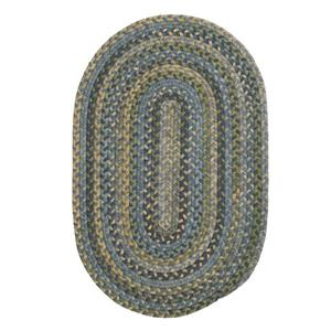 Colonial Mills Rustica 7-ft x 9-ft Whipple Blue Oval Area Rug