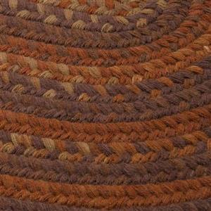 Colonial Mills Rustica 4-ft Round Audubon Russet Area Rug