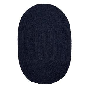 Colonial Mills Spring Meadow 4-ft x 6-ft Oval Indoor Navy Area Rug