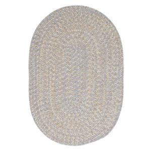 Colonial Mills Tremont 4-ft Round Handcrafted Gray Oval Area Rug