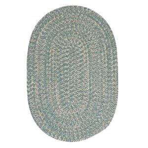 Colonial Mills Tremont 7-ft x 9-ft Teal Oval Area Rug