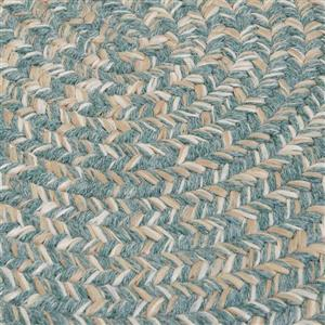 Colonial Mills Tremont 8-ft x 11-ft Teal Oval Rug