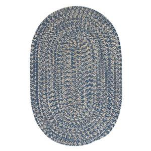 Colonial Mills Tremont 2-ft x 12-ft Handcrafted Denim Oval Runner