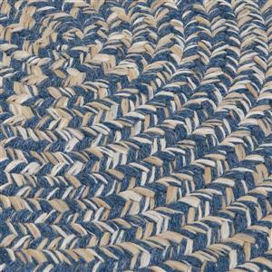 Colonial Mills Tremont 8-ft x 11-ft Handcrafted Denim Oval Area Rug