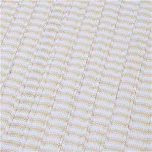 Colonial Mills Ticking Stripe Rectangle 4-ft x 6-ft Handcrafted Canvas Indoor Area Rug