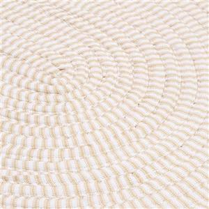 Colonial Mills Ticking Stripe 8-ft Round Indoor Canvas Area Rug
