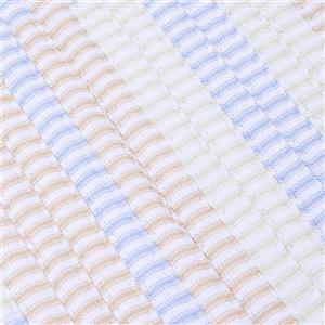 Colonial Mills Ticking Stripe Rectangle 2-ft x 8-ft Handcrafted Starlight Indoor Runner