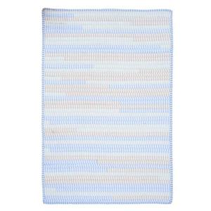 Colonial Mills Ticking Stripe Rect 4-ft x 6-ft Handcrafted Starlight Indoor Area Rug