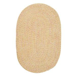 Colonial Mills West Bay 4-ft Banana Handcrafted Round Area Rug