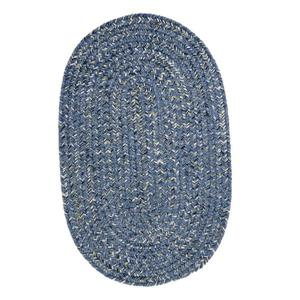 Colonial Mills West Bay 4-ft Blue Tweed Handcrafted Round Area Rug
