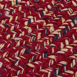 Colonial Mills West Bay 8-ft Round Indoor Sangria Tweed Area Rug