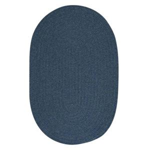 Colonial Mills Bristol 7-ft x 9-ft Federal Blue Oval Area Rug