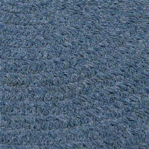 Colonial Mills Bristol 8-ft x 11-ft Oval Indoor Federal Blue Area Rug