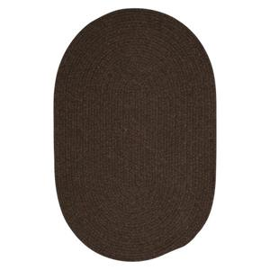 Colonial Mills Bristol 3-ft x 4-ft Round/Square Dark Brown Area Rug