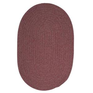 Colonial Mills Bristol 5-ft x 8-ft Dark Plum Oval Area Rug