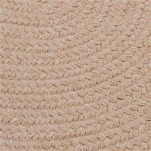 Colonial Mills Bristol 7-ft x 9-ft Oatmeal Oval Indoor Handcrafted Area Rug