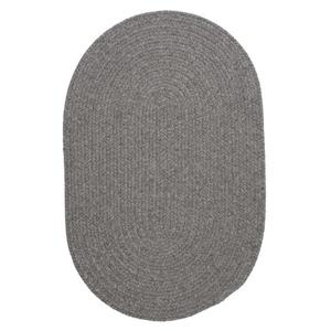 Colonial Mills Bristol 3-ft x 5-ft Gray Oval Indoor Handcrafted Area Rug