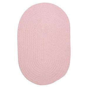 Colonial Mills Bristol 5-ft and 6-ft Round/Square Blush Pink Area Rug