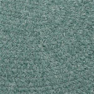 Colonial Mills Bristol 8-ft x 11-ft Teal Oval Indoor Handcrafted Area Rug