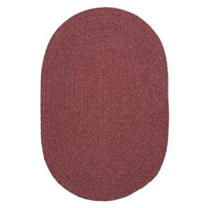 Colonial Mills Bristol 7-ft x 9-ft Mauve Oval Indoor Handcrafted Area Rug