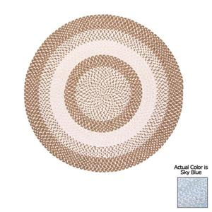Colonial Mills Blokburst8-ft Round Blue Sky Area Rug