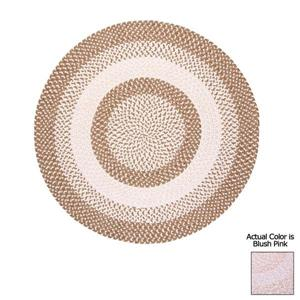 Colonial Mills Blokburst 8-ft Round Blush Pink Area Rug