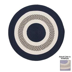 Colonial Mills Flowers Bay 4-ft x 4-ft Amethyst Round Area Rug