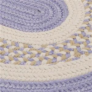 Colonial Mills Flowers Bay 7-ft x 9-ft Purple Oval Area Rug