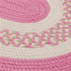 Colonial Mills Flowers Bay 8-ft x 11-ft Pink Oval Area Rug