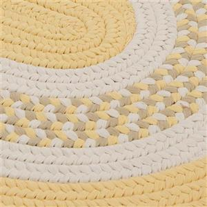 Colonial Mills Flowers Bay 4-ft x 6-ft Yellow Oval Area Rug