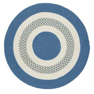 Colonial Mills Flowers Bay 4-ft x 4-ft Blue Round Area Rug