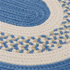 Colonial Mills Flowers Bay 7-ft x 9-ft Blue Oval Area Rug