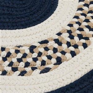 Colonial Mills Flowers Bay 4-ft x 6-ft Navy Oval Area Rug