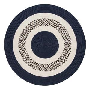 Colonial Mills Flowers Bay 6-ft Navy Indoor/Outdoor Round Area Rug