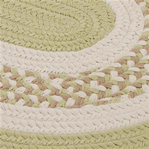 Colonial Mills Flowers Bay 2-ft x 10-ft Light Green Oval Area Rug