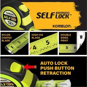 Komelon 12-ft Evolution Self-Lock High-Viz Tape Measure
