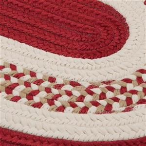 Colonial Mills Flowers Bay 5-ft x 8-ft Red Oval Area Rug