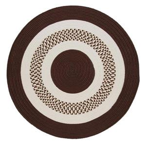 Colonial Mills Flowers Bay 4-ft x 4-ft Brown Round Area Rug