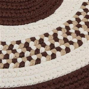 Colonial Mills Flowers Bay 4-ft x 6-ft Brown Oval Area Rug