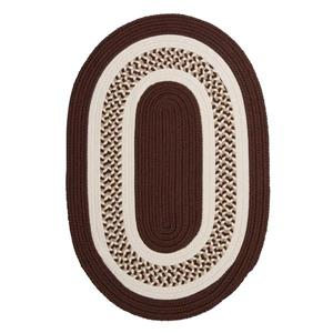 Colonial Mills Flowers Bay 7-ft x 9-ft Brown Oval Area Rug