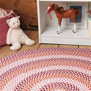 Colonial Mills Carousel 8-ft Ruby Pop Round Area Rug